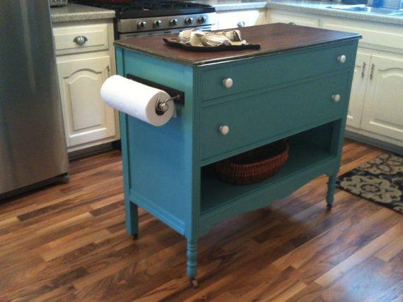 ... Dresser Made Kitchen Island U2013 Saler And Sawdust On Sandy Island, Dresser  Into Kitchen Hutch, ...