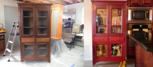 before and after my hutch